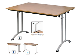 Table pliante à plateau stratifié inusable 22mm