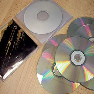 Reliure CD multipoches transparente
