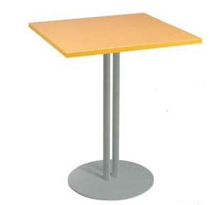 Table carrée plateau stratifié H74 cm