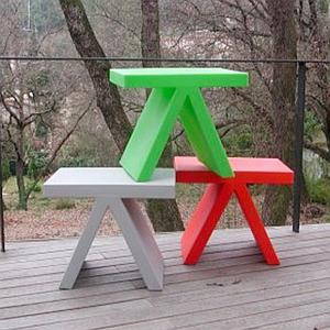 Tabouret-table d'appoint fun