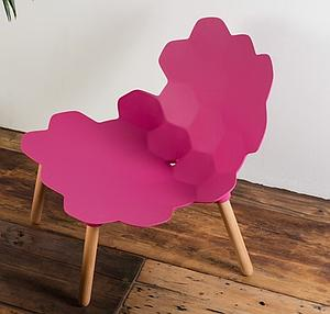 "Chaise design ""carapace"""
