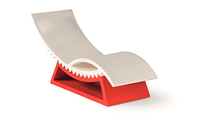 Chaise longue INDOOR/OUTDOOR avec socle