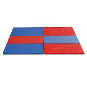 Tapis en mousse carré multicolore